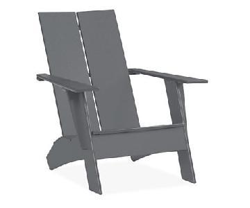 Room & Board Emmet Outdoor Adirondack Chair & Ottoman