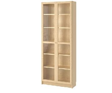 Ikea Billy Bookcase w/ Glass Doors