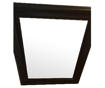 Black Wall Mounted Mirror