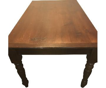 Solid Wood Dark Brown Dining Table