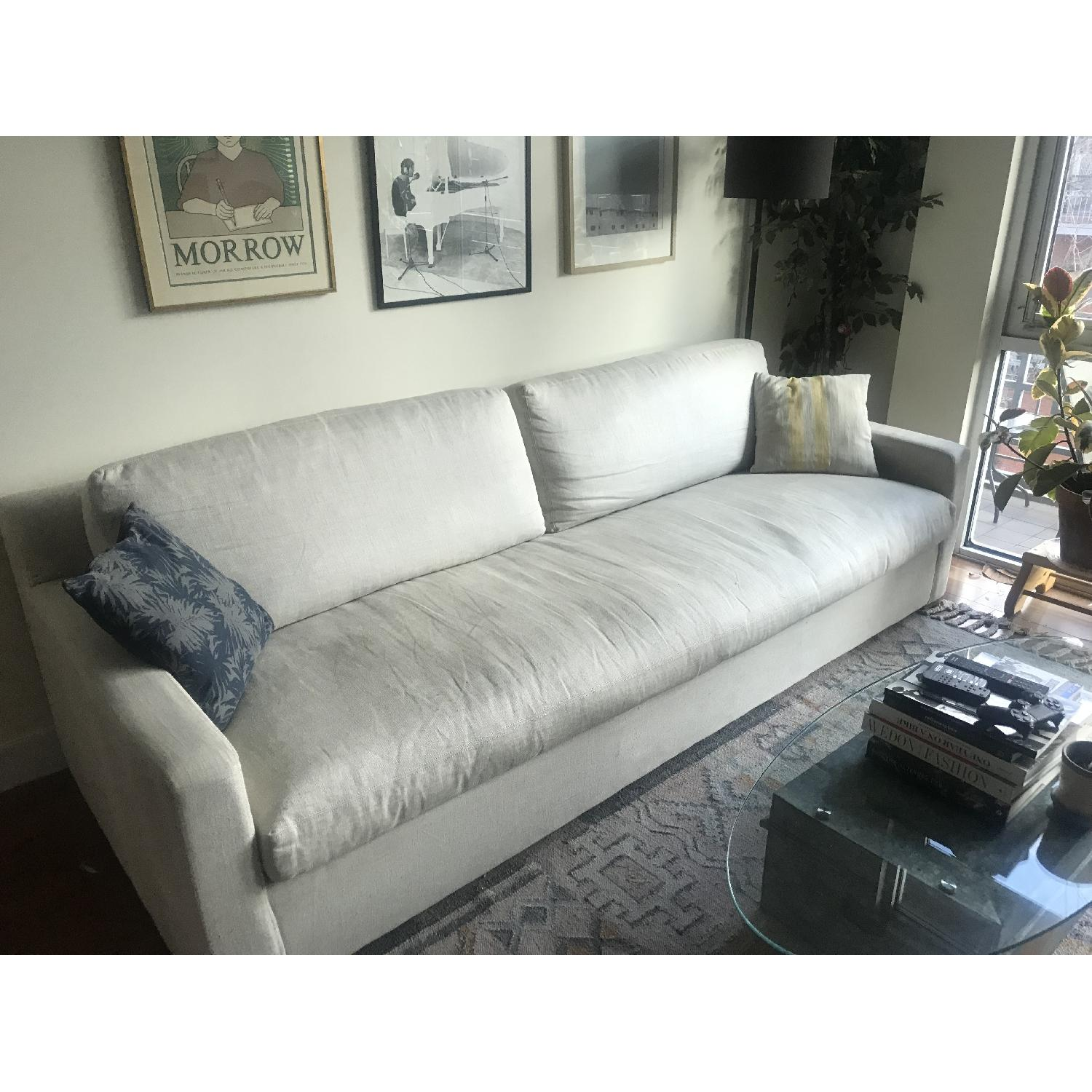 Restoration Hardware Belgian Track Arm Upholstered Sofa