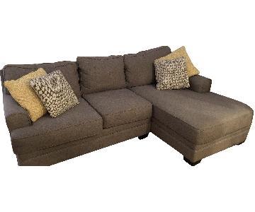 Jennifer Convertibles Grey Sectional Sofa