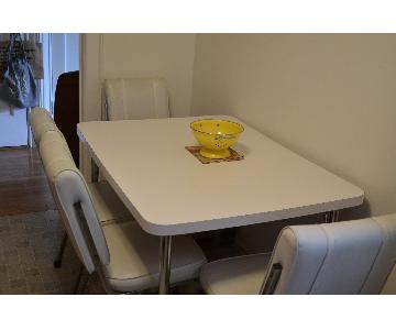 Vintage Formica Dining Table w/ 4 Chairs