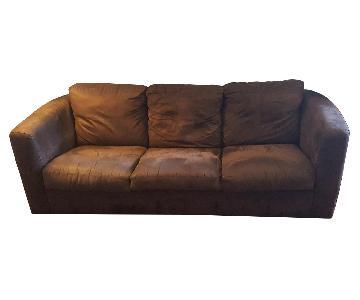Brown Microsuede Sofa
