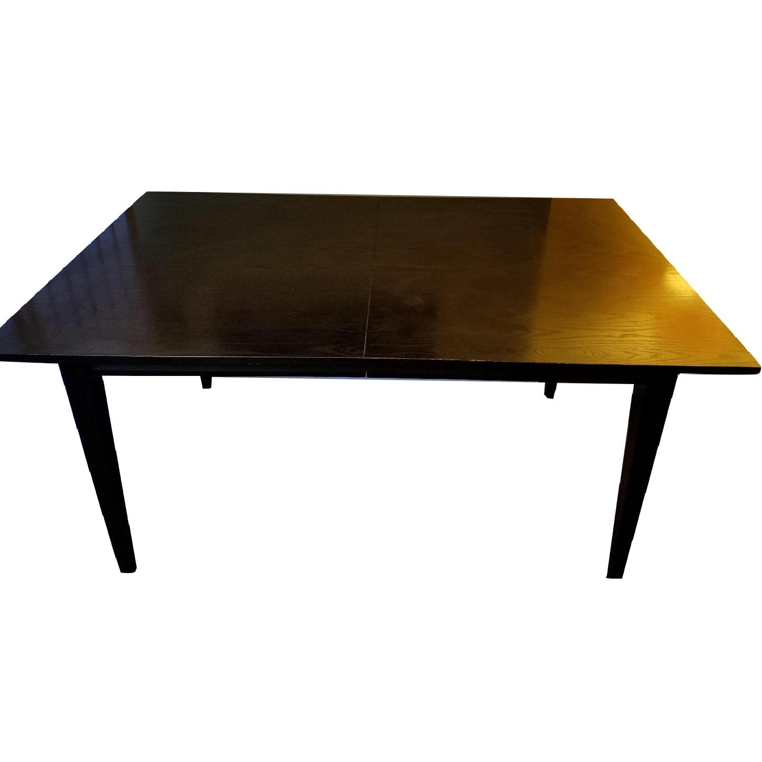 Crate & Barrel Dark Wood Dining Table