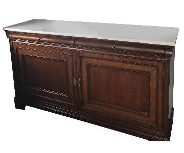 Curate Home Collection Marble Top Credenza