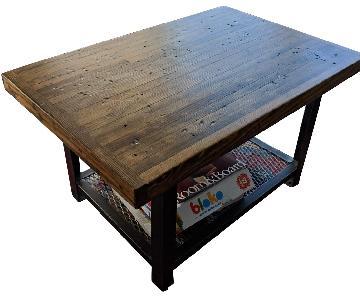 Vintage Reclaimed Wood Industrial Style Coffee Table
