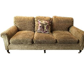 George Smith Brown Chenille Sofa