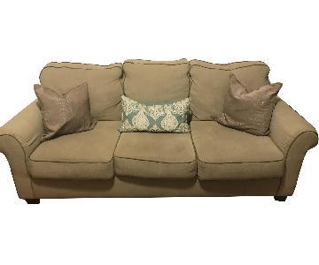 Neutral Beige Fabric Sofa