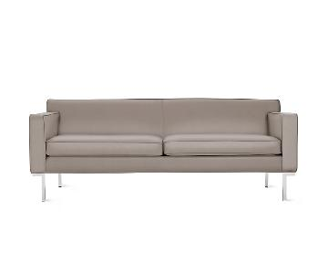 Design Within Reach Theatre Sofa in Warm Grey Leather