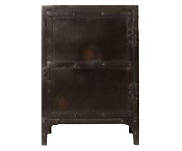 Restoration Hardware Industrial Tool Chest Side Table