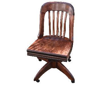 Gunlocke Vintage 1940s Banker's Chair