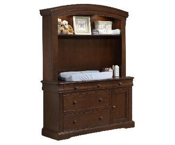 Westwood Baby Stratton Hutch w /Dresser in Virginia Cherry