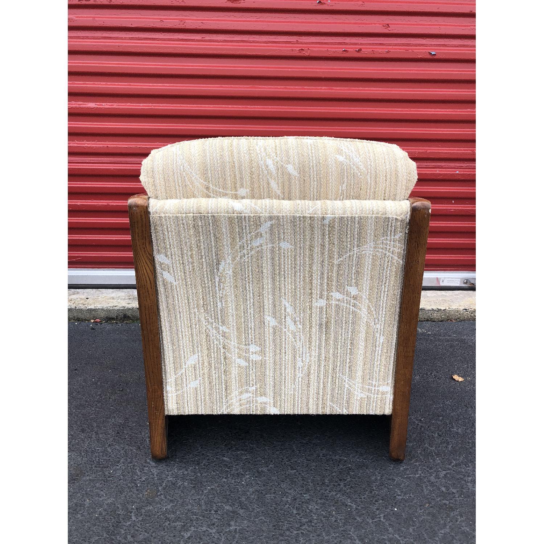 Vintage Lounge Chair w/ Cane Arms & Ottoman - image-9