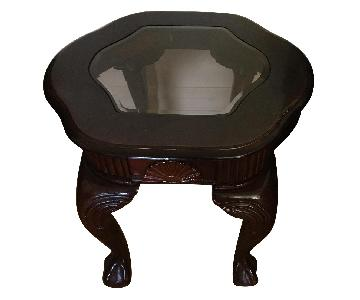 Wood & Glass Side Tables