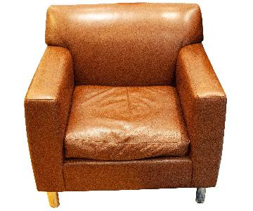 Room & Board Brown Leather Armchair