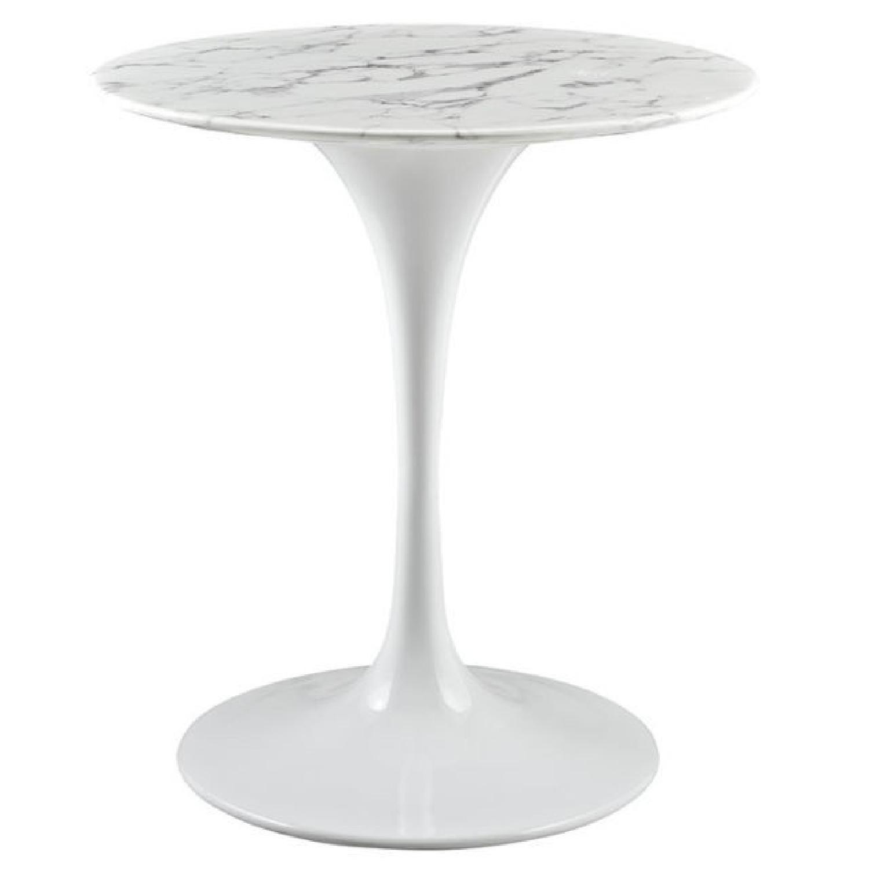 Safavieh Malone Modern White Chrome Coffee Table Aptdeco