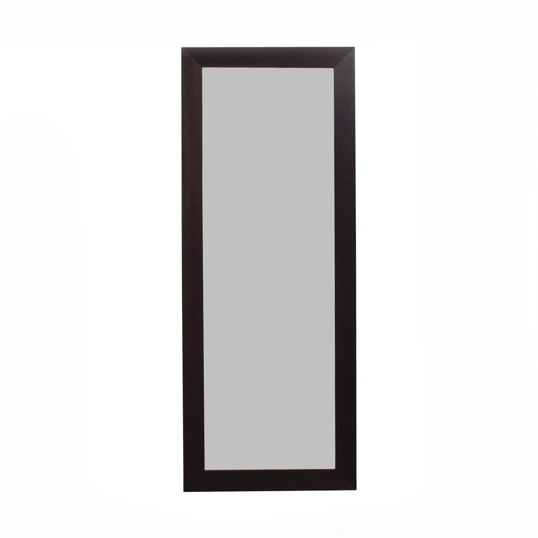Room & Board Black Wood Floor Mirror