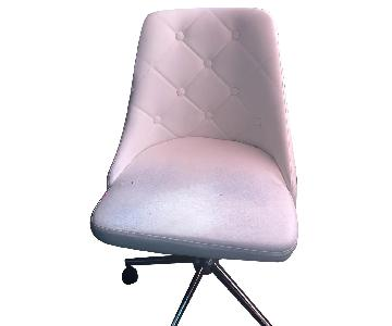 Raymour & Flanigan White Leather Office Chair