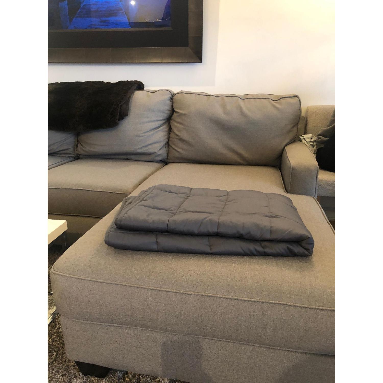 Jennifer Convertibles Sectional Sofa W Cuddler Aptdeco