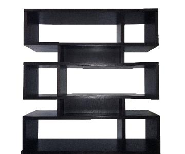 West Elm Black Stacked Modular Bookcase