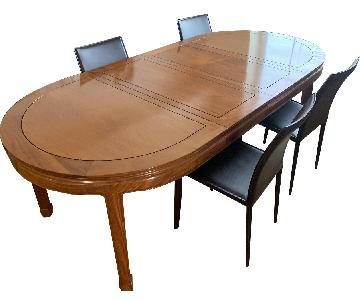 Handmade Rosewood Expandable Dining Table