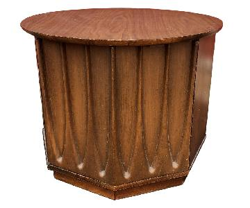 Mid Century Brasillia Style End Table w/ Storage Cabinet