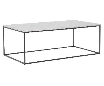 West Elm Streamline Coffee Table White Marble