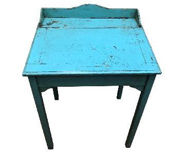 Old Wooden School Desk
