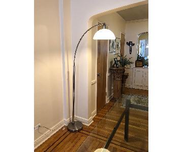 Arc Floor Lamp in Brushed Nickel