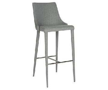 Safavieh Summerset Grey Linen Barstools