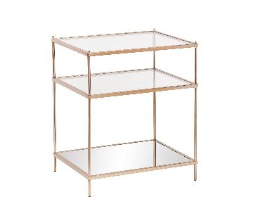 Silver Orchid Grant Gold Side/End Table