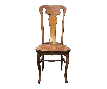 Vintage Solid Oak Dining Chair