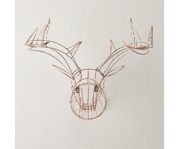 CB2 Wall Hanging Deer in Copper