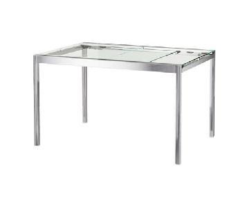 Ikea Glivarp Glass & Chrome Dining Table