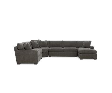 Macy's Radley 5-Piece Fabric Chaise Sectional Sofa