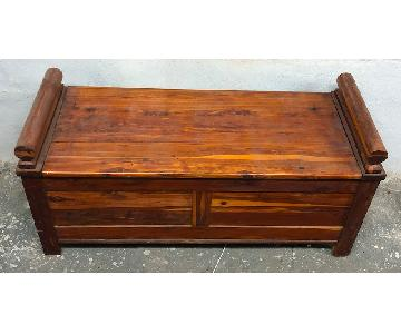 Reclaimed Wood Storage Bench/Chest