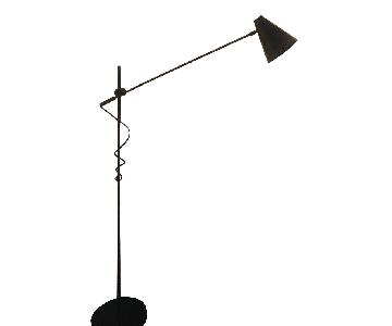 Restoration Hardware 20th C. Torpedo Bronze Task Floor Lamp