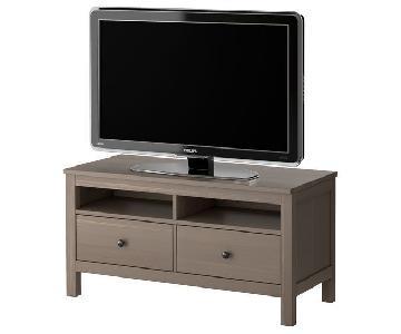 Ikea Hemnes TV Unit in Light Gray-Brown Wood