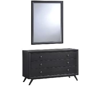 Manhattan Home Design Wooden Dresser & Mirror in Black