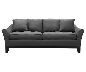 Raymour & Flanigan Microsuede Sleeper Sofa