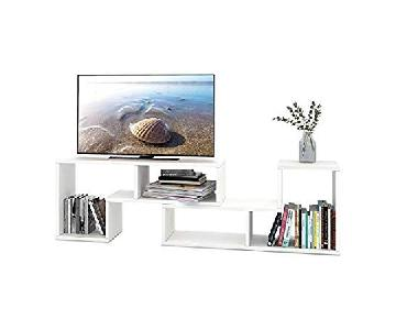 Devaise TV Stand w/ Bookshelves