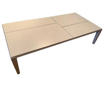 Poliform Lacquer & Leather Coffee Table