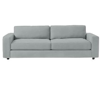 West Elm Urban Sofa in Dusty Blue