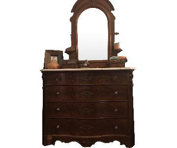 Antique Victorian Marble Dresser
