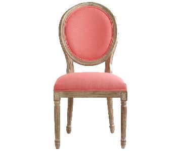 World Market Carol Linen Paige Round Back Chair