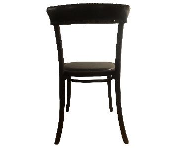 One Kings Lane Wood & Leather Dining Chairs w/ Nail Heads