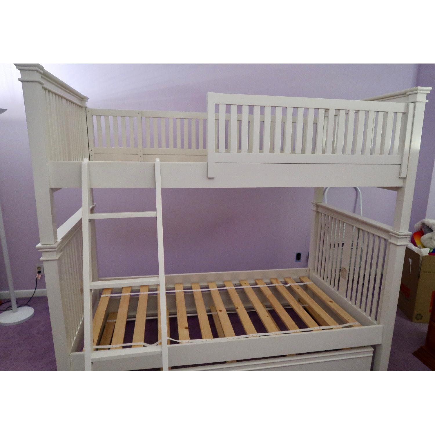 Crate Barrel Twin Over Twin Bunk Bed W Additional Aptdeco