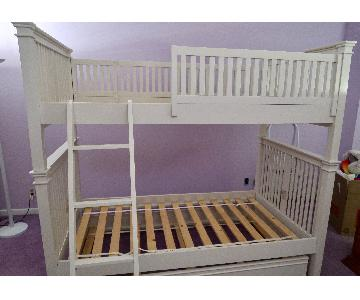 Crate & Barrel Twin Over Twin Bunk Bed w/ Additional Trundle