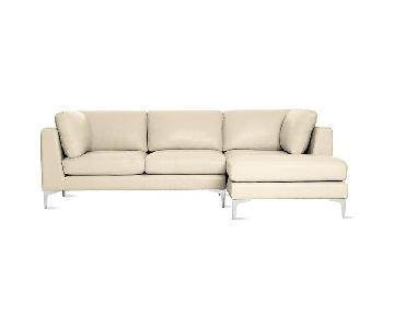 Design Within Reach Leather Sectional Sofa